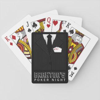 Cartes À Jouer Cartes de jeu de nuit de tisonnier de casino de