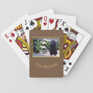 Cartes À Jouer Cartes de jeu de plate-forme de caniche