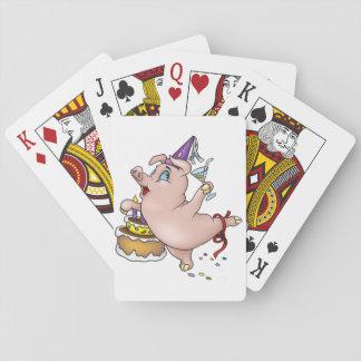 Cartes À Jouer Cartes de jeu de porc d'anniversaire