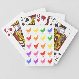 Cartes À Jouer Cartes de jeu de poulet d'arc-en-ciel