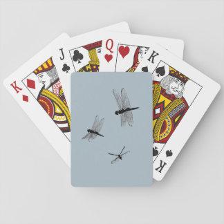Cartes À Jouer Cartes de jeu de silhouettes de libellule