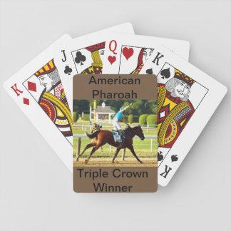 Cartes À Jouer Cartes de jeu de Triple Crown de Pharoah
