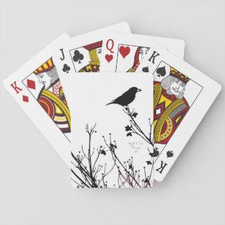 Cartes À Jouer Cartes de jeu décorées par oiseau