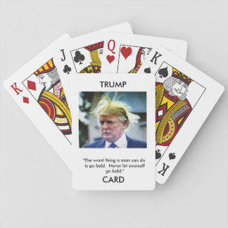 Cartes À Jouer Cartes de jeu d'image/citation de Donald Trump