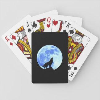 Cartes À Jouer Cartes de jeu du loup A d'hurlement, visages