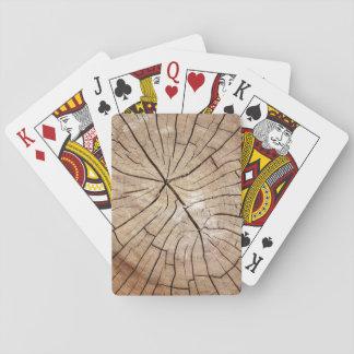Cartes À Jouer Cartes de jeu en bois criquées de grain