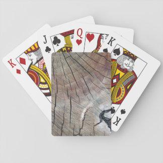 Cartes À Jouer Cartes de jeu en bois de grain
