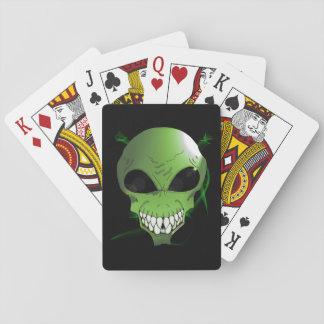 Cartes À Jouer Cartes de jeu étrangères vertes, visages standard