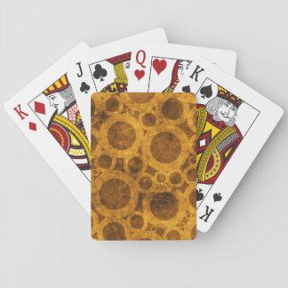 Cartes À Jouer Cartes de jeu grunges de Brown d'or de motif de