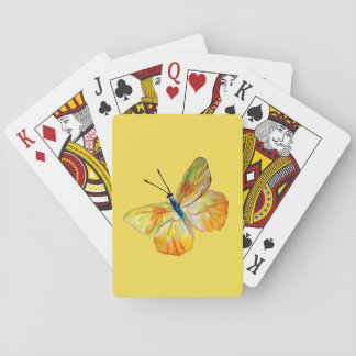 Cartes À Jouer Cartes de jeu jaunes de dessin d'aquarelle de