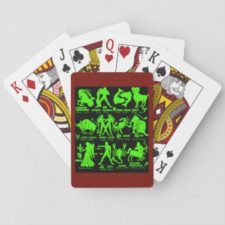 Cartes À Jouer Cartes de jeu marron blanches de jeu de zodiaque 3