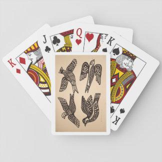 Cartes À Jouer cartes de jeu mignonnes de style d'oiseau