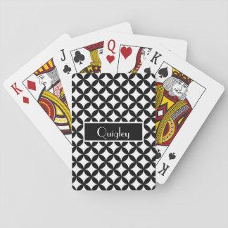 Cartes À Jouer Cartes de jeu noires et blanches personnalisées