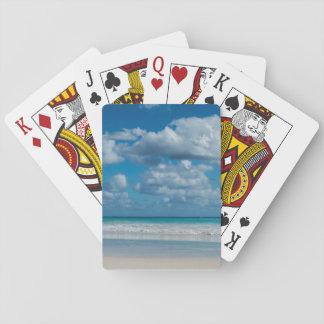 Cartes À Jouer Cartes de jeu nuageuses de ligne de flottaison de