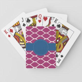 Cartes À Jouer Cartes de jeu personnalisées par marine de roses