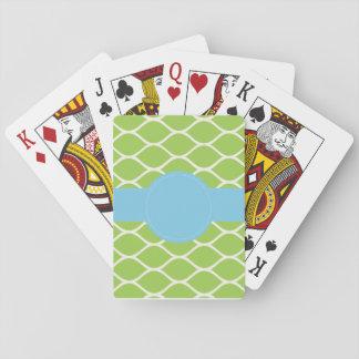 Cartes À Jouer Cartes de jeu personnalisées vert-bleu