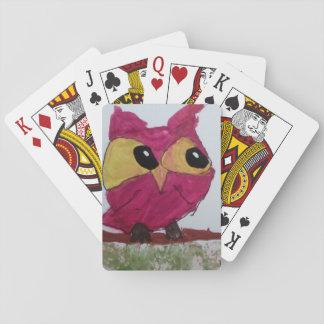 Cartes À Jouer Cartes de jeu rouges de hibou