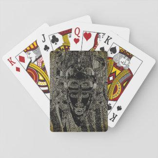Cartes À Jouer Cartes de jeu tribales de vaudou - magie noire