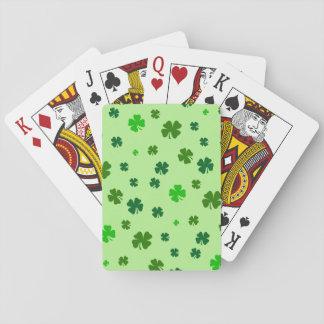 Cartes À Jouer Cartes de jeu vertes irlandaises de shamrock