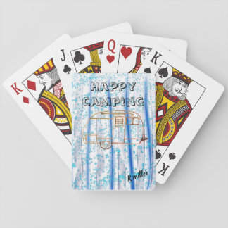 Cartes À Jouer Cartes heureuses de camping