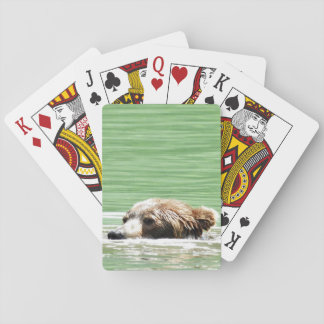 Cartes À Jouer Cartes plaing d'ours gris de natation