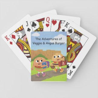Cartes À Jouer Cartes végétariennes et d'Angus de jeu