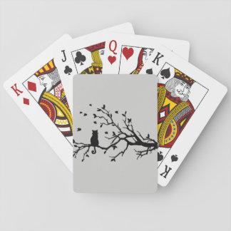 Cartes À Jouer Chat sur un arbre - silhouette