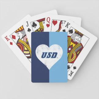 Cartes À Jouer Coeur de cru d'USD
