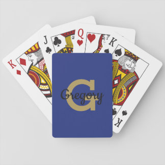 Cartes À Jouer Coutume belle initiale classique de monogramme