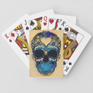Cartes À Jouer Crâne de sucre - coeur