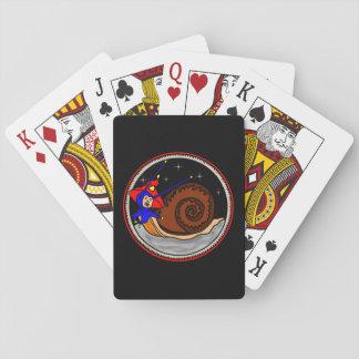 Cartes À Jouer D'escargot étrange