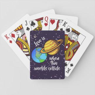 Cartes À Jouer Deux mondes se heurtent