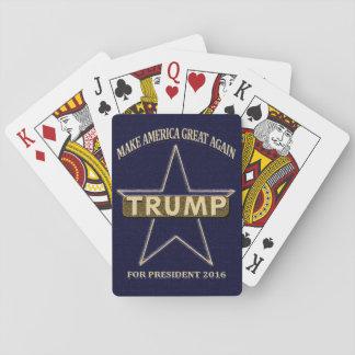 Cartes À Jouer Donald Trump pour des cartes de jeu du Président