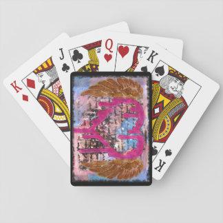 Cartes À Jouer Donnant votre coeur s'envole des cartes de médias
