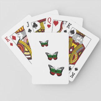 Cartes À Jouer Drapeau de Bulgare de papillon