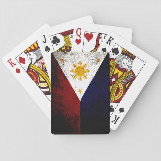 Cartes À Jouer Drapeau grunge noir de Philippines