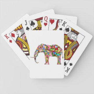 Cartes À Jouer Éléphant coloré