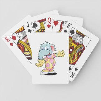 Cartes À Jouer Éléphant dans des pyjamas