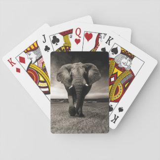 Cartes À Jouer Éléphant sur la course