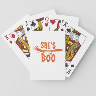 Cartes À Jouer Elle est ma huent des couples d'amour de Halloween