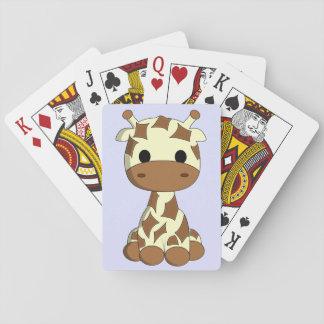 Cartes À Jouer Enfants mignons de bande dessinée de girafe de