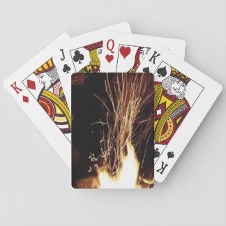Cartes À Jouer Étincelles en flammes