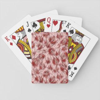 Cartes À Jouer Faux motif rose et rouge de fourrure de léopard