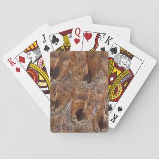 Cartes À Jouer Fermez-vous des plumes de Brown