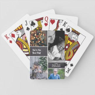 Cartes À Jouer Fête des pères, collage de collage de photo,