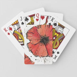 Cartes À Jouer Fleur sur un arrière - plan blanc