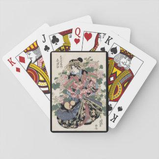 Cartes À Jouer Geisha d'Eisen Ukiyo-e