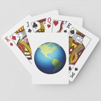 Cartes À Jouer Globe de la terre Amériques - Emoji