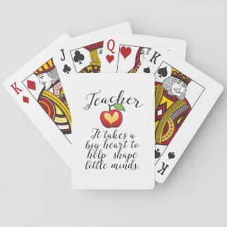 Cartes À Jouer Grand coeur à aider à former le petit professeur