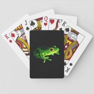 Cartes À Jouer Grenouille verte